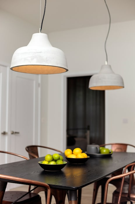 Lighting detail by WN Interiors of Poole Industrial style living room by homify Industrial