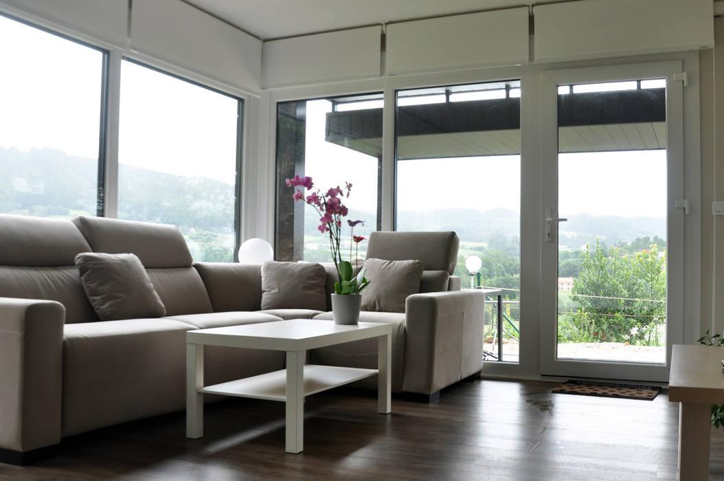Casa prefabricada Cube 75 m2 - Salón Livings de estilo moderno de Casas Cube Moderno