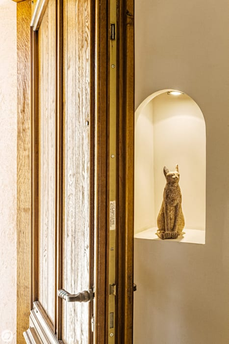 PASSAGE CITRON Ingresso, Corridoio & Scale in stile mediterraneo
