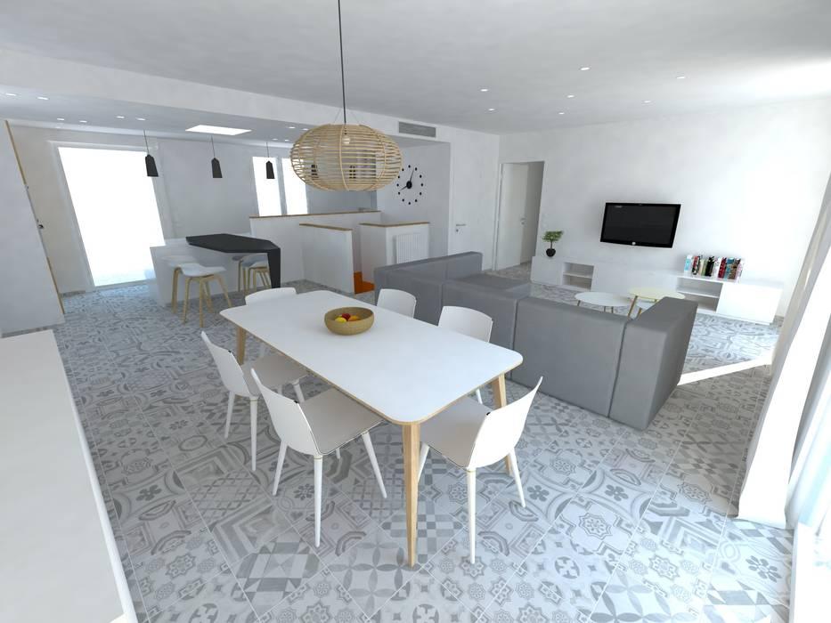 Réaménagement d'une maison: Salle à manger de style de style Minimaliste par La Fable