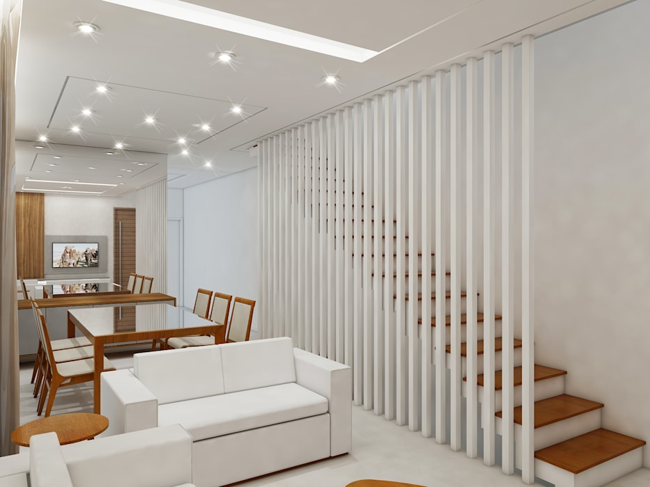 Modern Corridor, Hallway and Staircase by Merlincon Prestes Arquitetura Modern