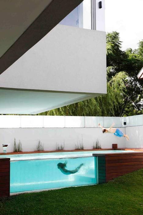 Casa Devoto Remy Arquitectos Piletas modernas: Ideas, imágenes y decoración