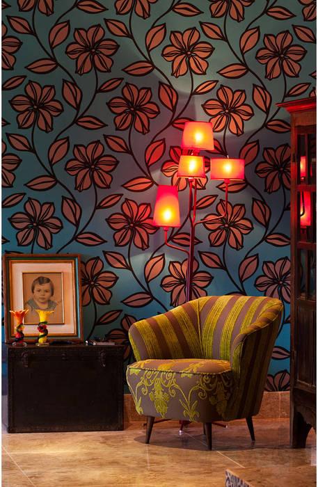 Rustic style living room by MMMundim Arquitetura e Interiores Rustic