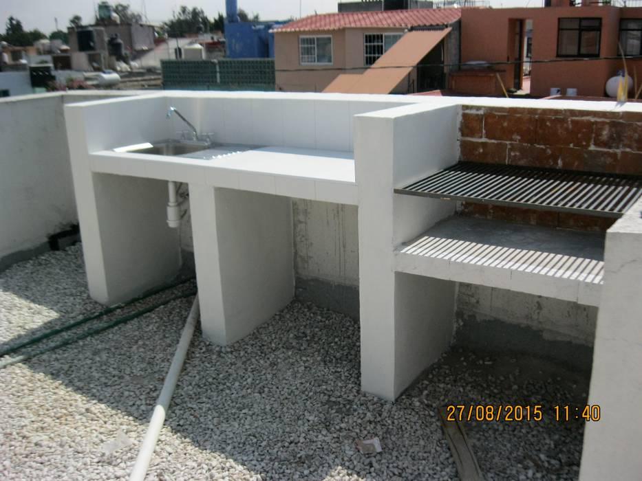 Parrilla Balcones y terrazas eclécticos de Fixing Ecléctico Ladrillos