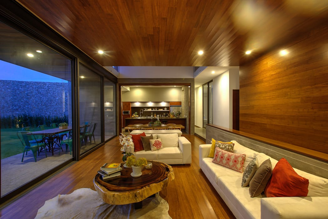 Living room by ze|arquitectura, Modern