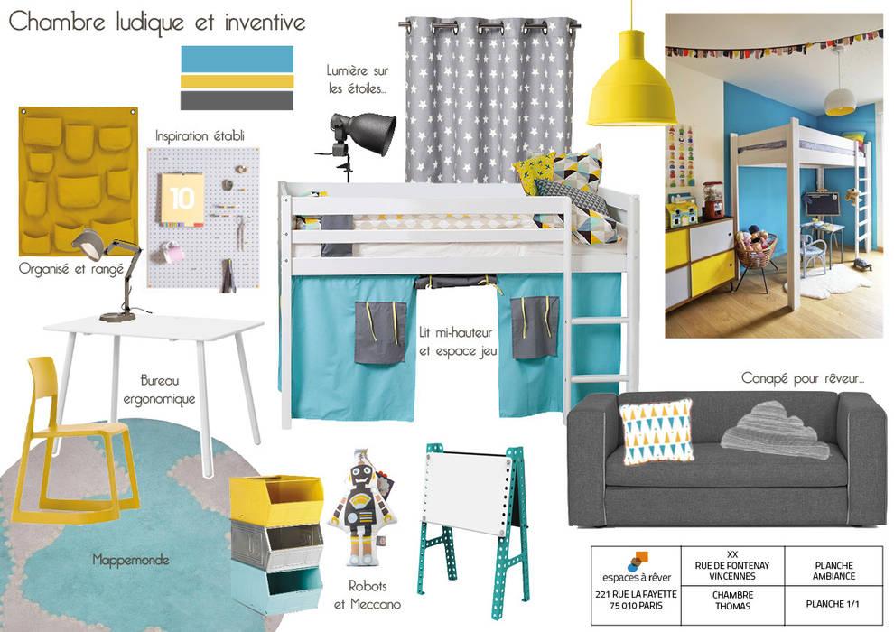 Planche ambiance d\'une chambre d\'enfant « inventive et ludique ...