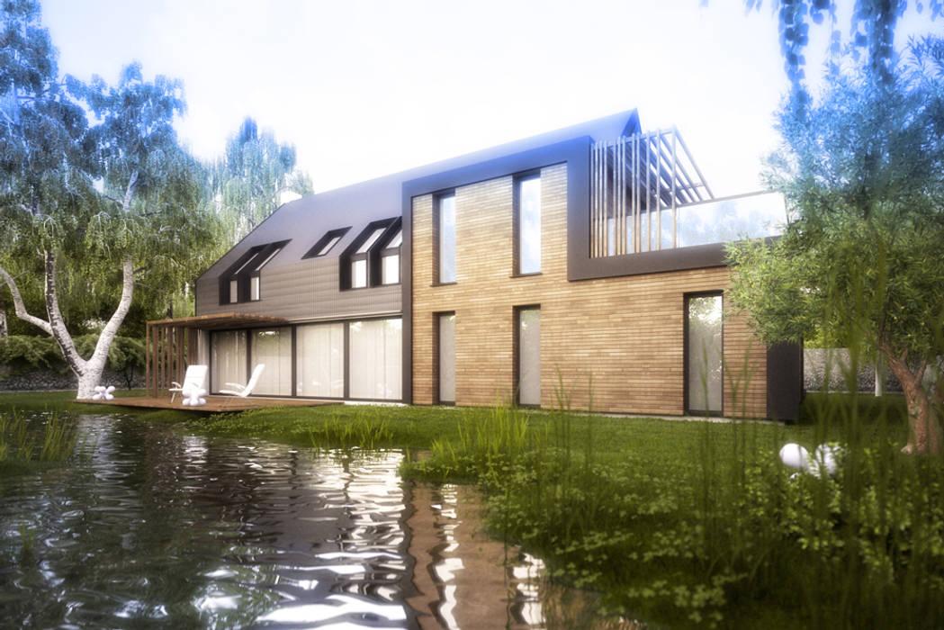現代房屋設計點子、靈感 & 圖片 根據 Majchrzak Pracownia Projektowa 現代風