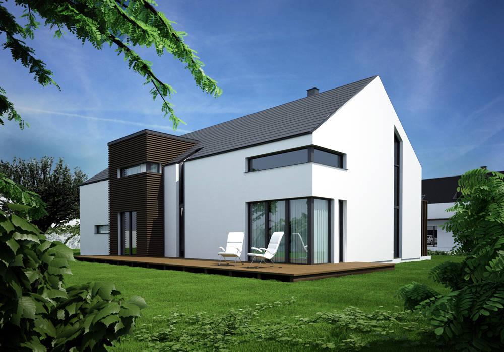Projekty domów - House 20 Nowoczesne domy od Majchrzak Pracownia Projektowa Nowoczesny