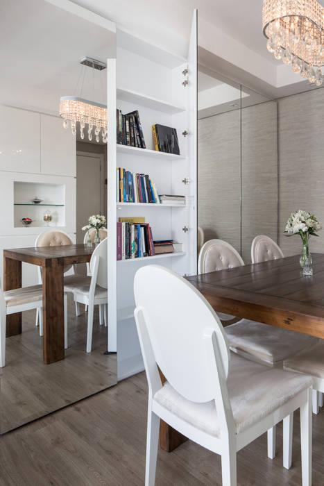 homify Minimalist dining room Wood Beige