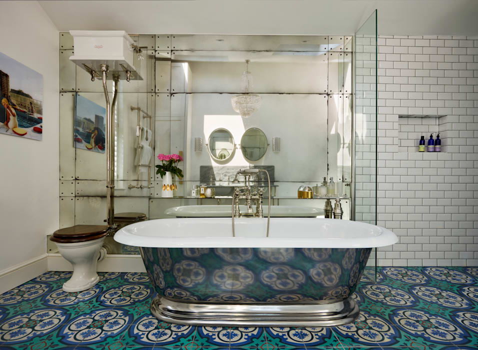 Victorian Terrace House, South-West London:  Bathroom by Drummonds Bathrooms