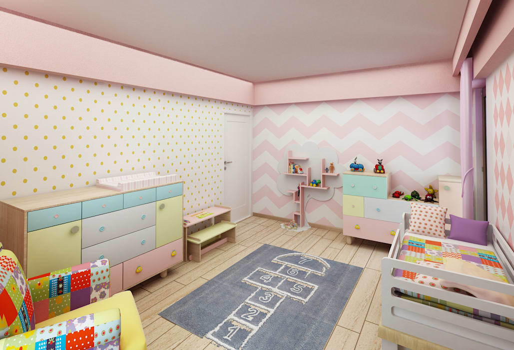 Murat Aksel Architecture – Housing:  tarz Çocuk Odası, Modern Ahşap Ahşap rengi