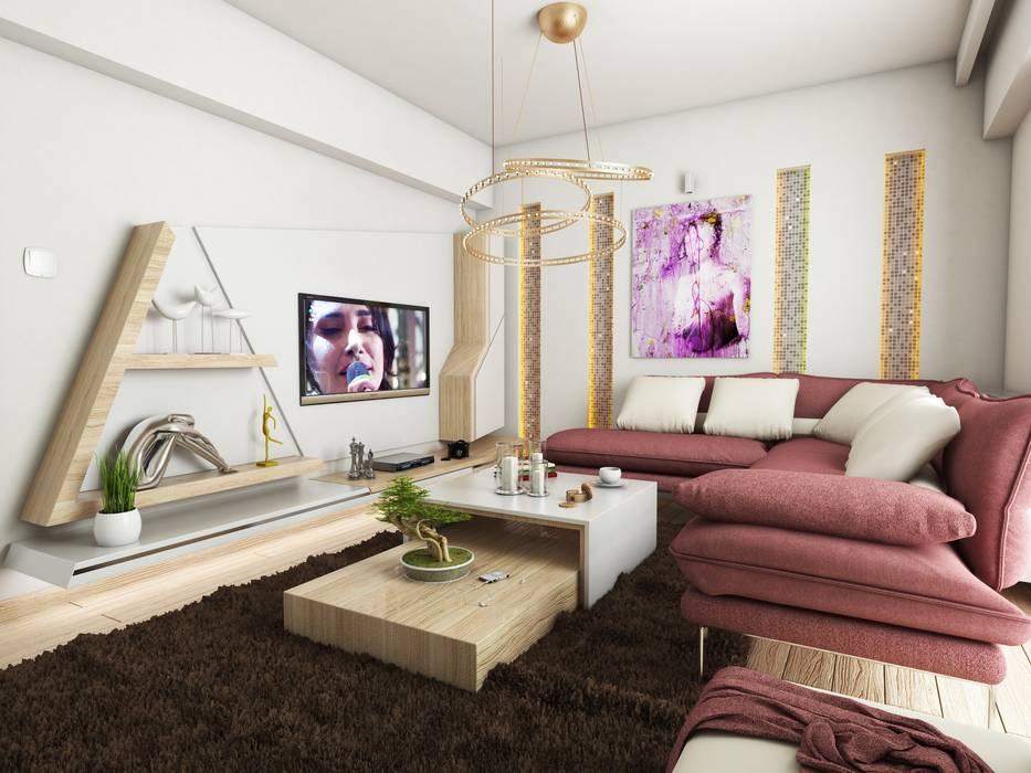 Murat Aksel Architecture Modern living room Wood Wood effect