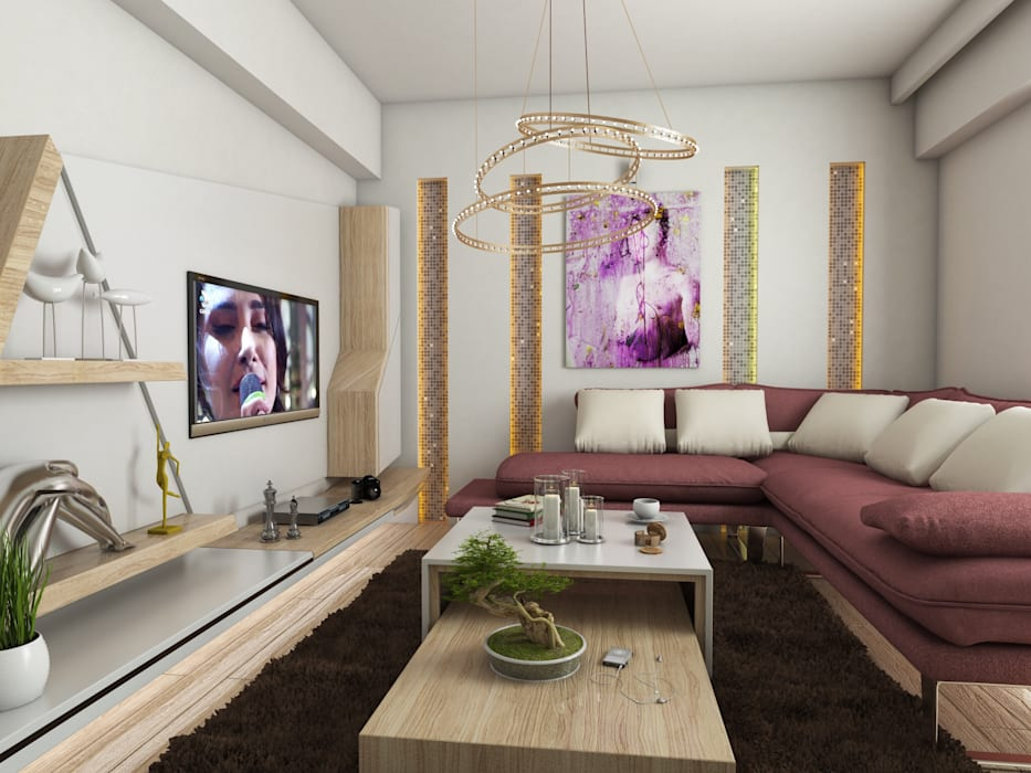 Modern Living Room by Murat Aksel Architecture Modern Wood Wood effect