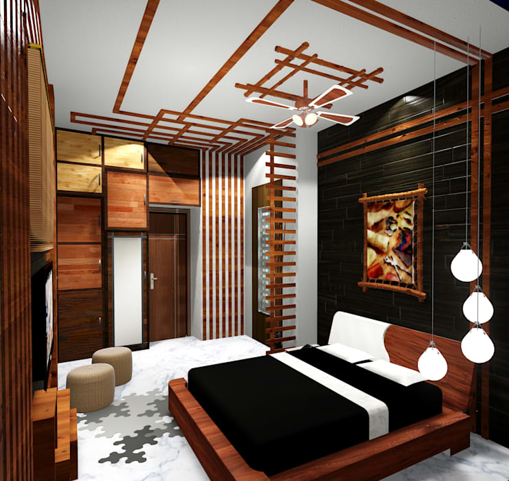 Room 1 bed view Modern style bedroom by Creazione Interiors Modern