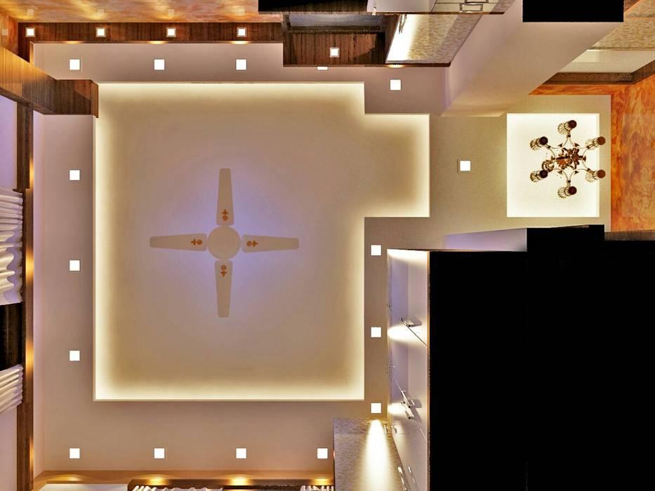 Room 2 ceiling design:  Bedroom by Creazione Interiors