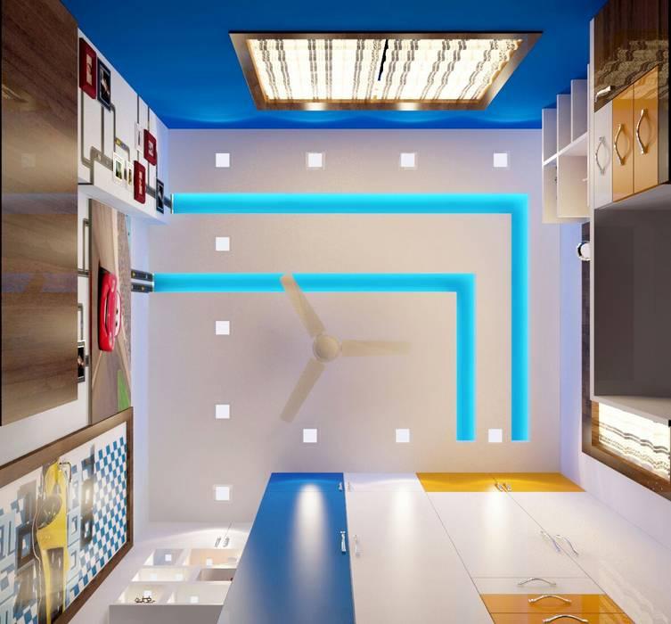 Room 4 ceiling design :  Bedroom by Creazione Interiors