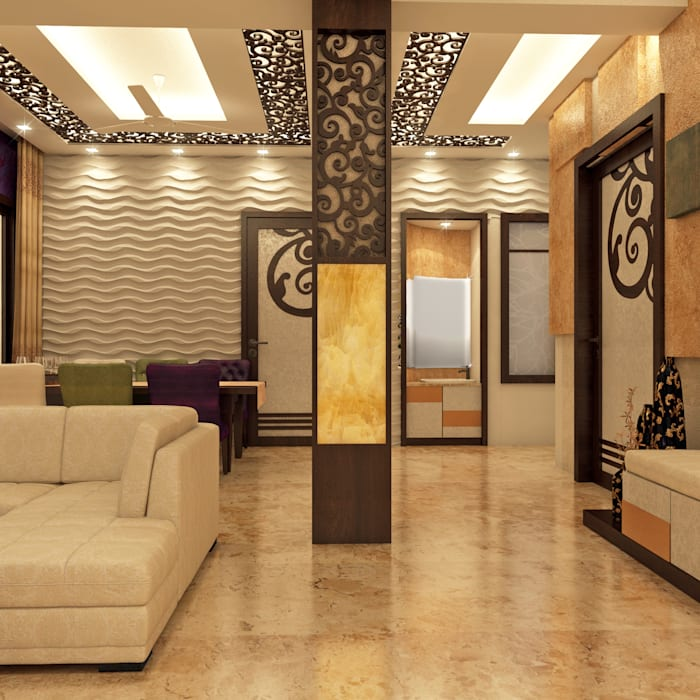 Living room:  Living room by Creazione Interiors