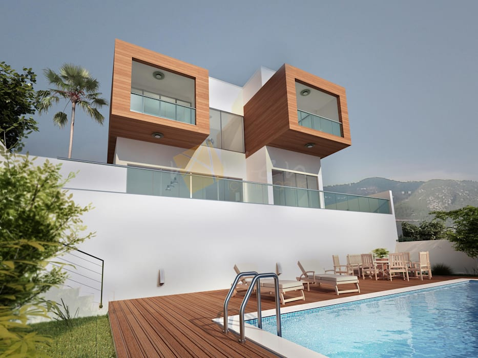 Modern Houses by Murat Aksel Architecture Modern Wood Wood effect