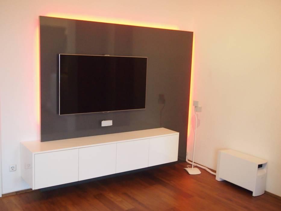 Tv wall square – antrazith hochglanz / weiß hochglanz: wohnzimmer ...