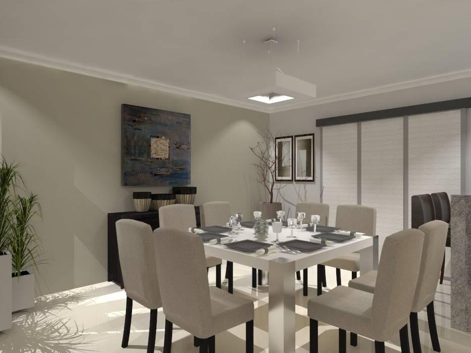 COMEDOR: Comedores de estilo moderno por AurEa 34 -Arquitectura tu Espacio-