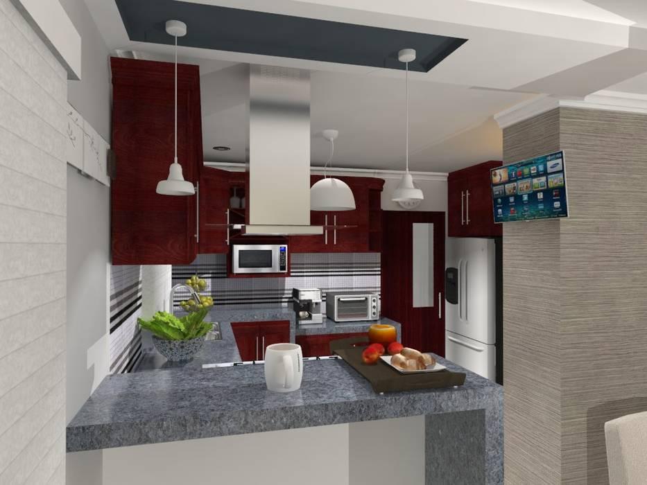 COCINA: Cocinas de estilo  por AurEa 34 -Arquitectura tu Espacio-