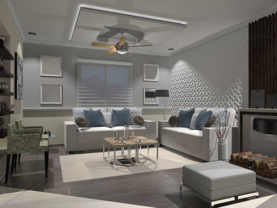 SALA Salones modernos de AurEa 34 -Arquitectura tu Espacio- Moderno