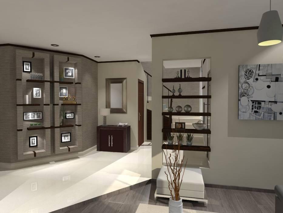 RECIBIDOR Pasillos, vestíbulos y escaleras modernos de AurEa 34 -Arquitectura tu Espacio- Moderno