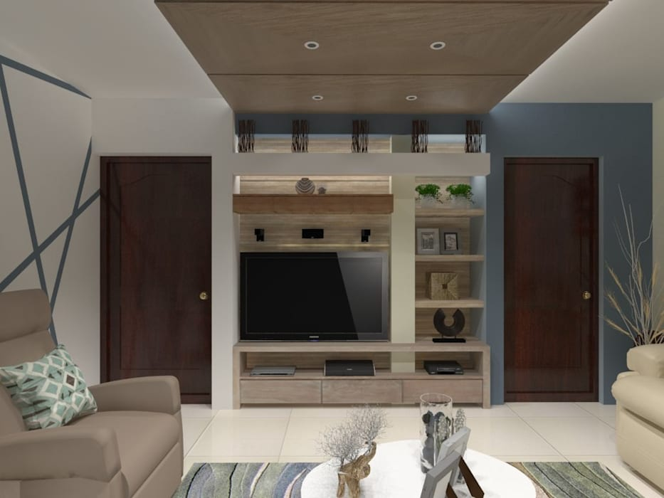 SALA MULTIMEDIA Salas multimedia modernas de AurEa 34 -Arquitectura tu Espacio- Moderno