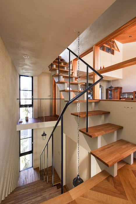 Modern Corridor, Hallway and Staircase by Nobuyoshi Hayashi Modern