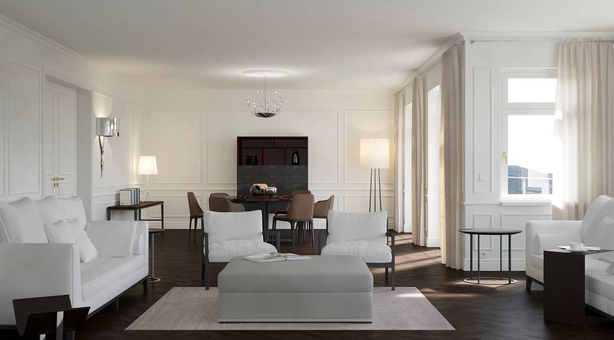 Wohnwelt Classic Klassische Wohnzimmer von makasa Klassisch