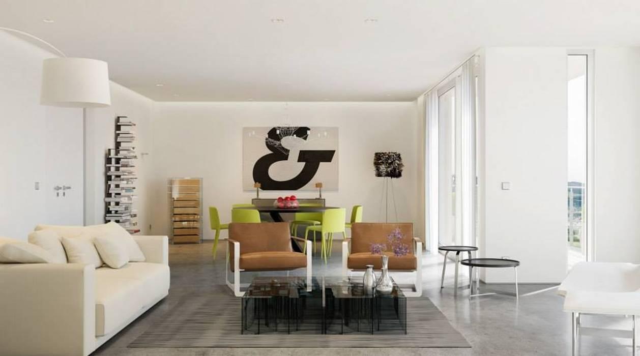 Living room by makasa, Modern