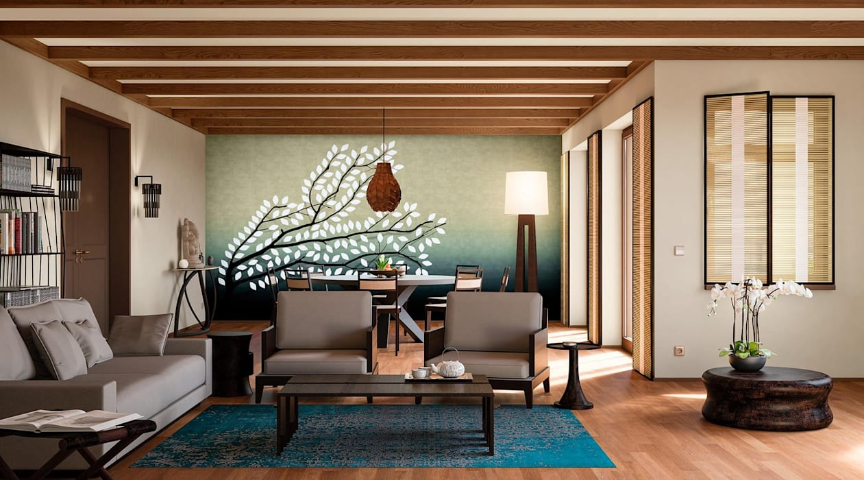 Living room by makasa, Tropical