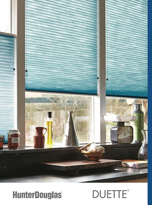 Duette® Cocinas minimalistas de Dekorier Interiores Minimalista Textil Ámbar/Dorado