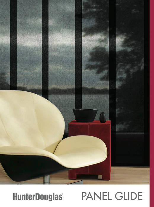 Panel Glide Salones minimalistas de Dekorier Interiores Minimalista Textil Ámbar/Dorado
