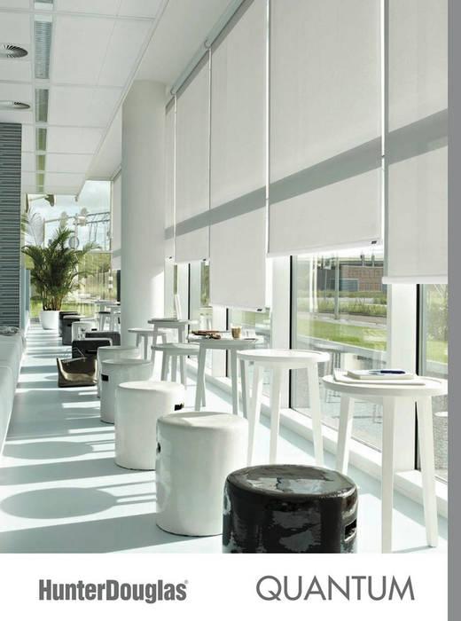 Enrollable Quantum Comedores minimalistas de Dekorier Interiores Minimalista Textil Ámbar/Dorado
