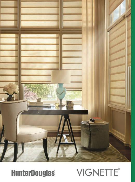 Vignette® Comedores minimalistas de Dekorier Interiores Minimalista Textil Ámbar/Dorado