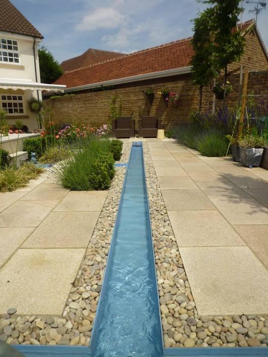 Church Mill Grange Asian style garden by Aralia Asian Slate