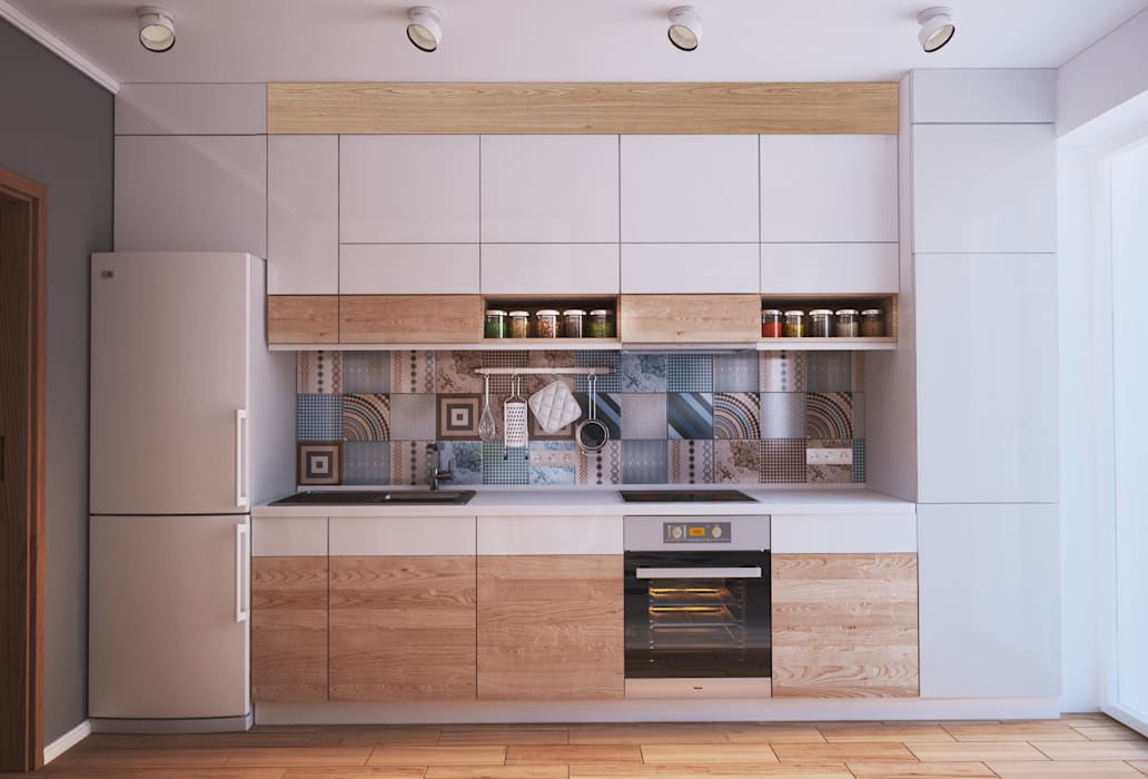 """APARTMENT """"VERBI"""" Minimalistische Küchen von Polygon arch&des Minimalistisch"""