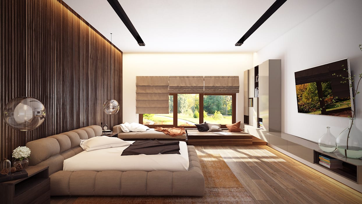 Minimalist bedroom by Artichok Design Minimalist Wood Wood effect