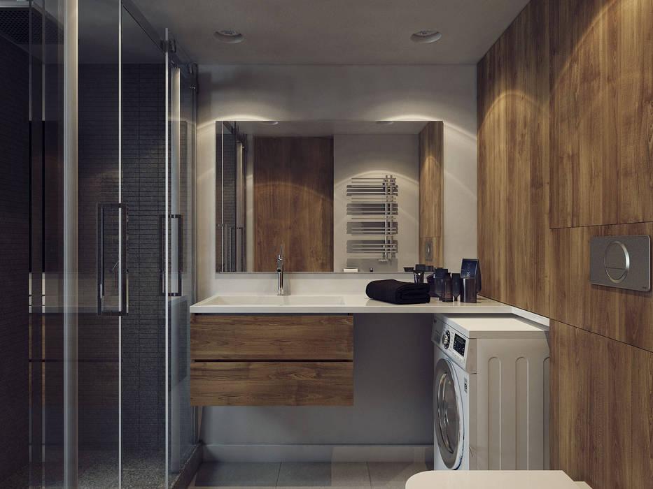 ห้องน้ำ โดย Хороший план, สแกนดิเนเวียน