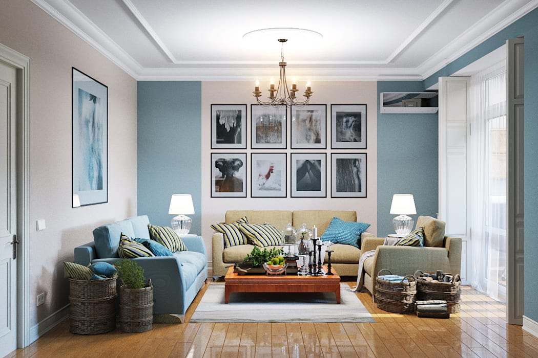 Salones de estilo moderno de Студия дизайна Interior Design IDEAS Moderno