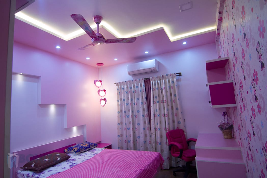 Kids bedroom false ceiling design Asian style bedroom by homify Asian