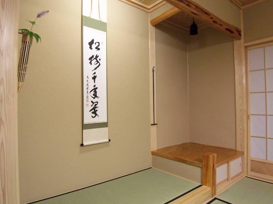 床の間と琵琶床 (有)岳建築設計 オリジナルな 壁&床