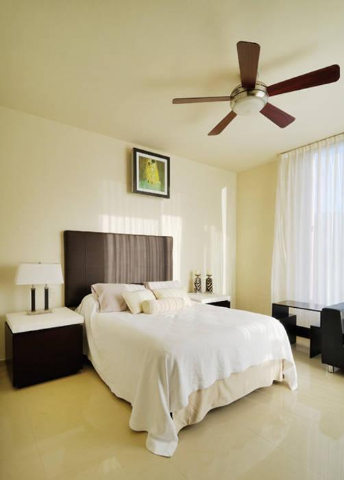 recamara Excelencia en Diseño Dormitorios modernos Compuestos de madera y plástico Blanco