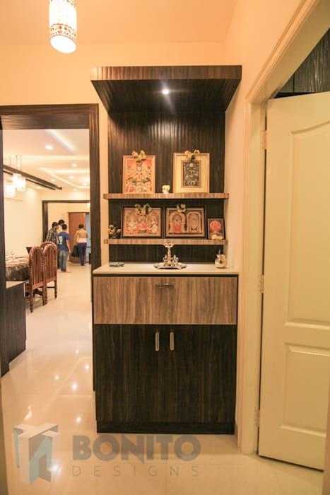 Pooja unit design homify Asian style living room