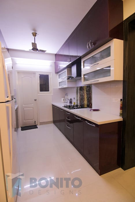 Kitchen interiors by homify Asian