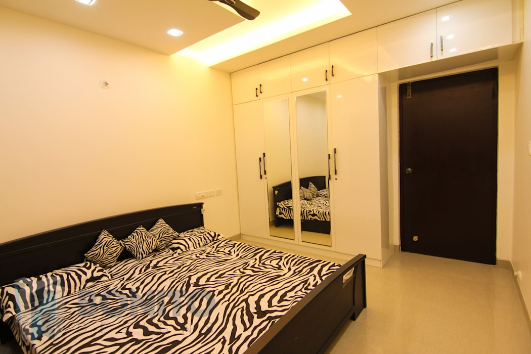 Bedroom wardrobe design with dresser 根據 homify 日式風、東方風
