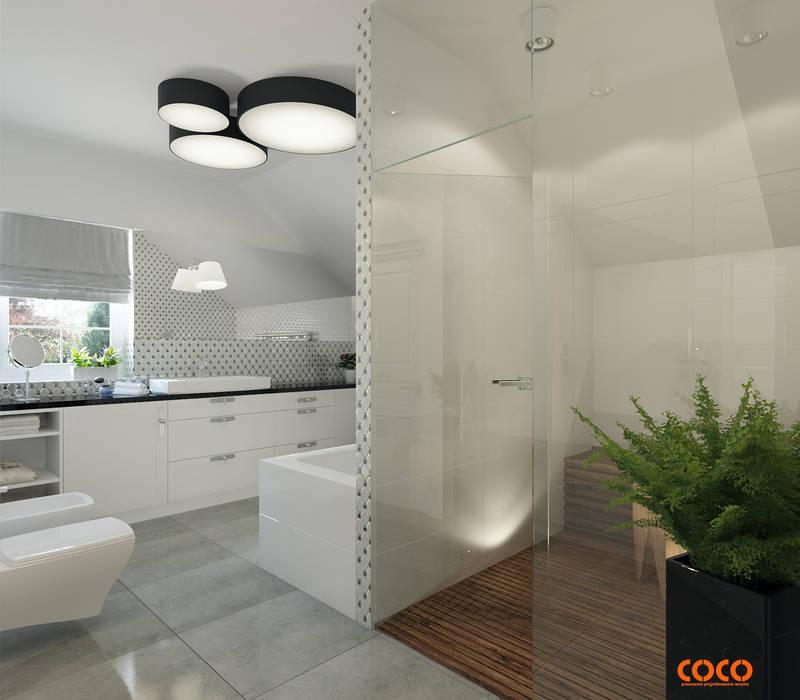 COCO romans z błękitami od COCO Pracownia projektowania wnętrz