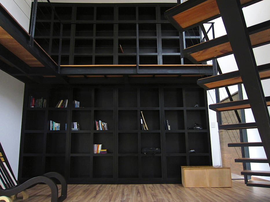 Bbiblioteca Estudios y despachos modernos de Narda Davila arquitectura Moderno Hierro/Acero
