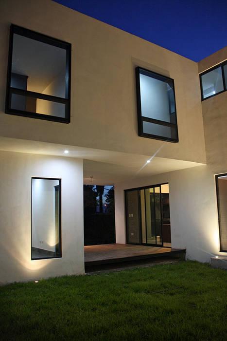 Terraza Balcones y terrazas modernos de Narda Davila arquitectura Moderno Madera Acabado en madera